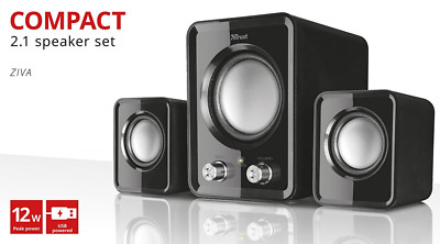 *BEST Computer Speakers Subwoofer Speaker Set PC Laptop USB Powerful Sound