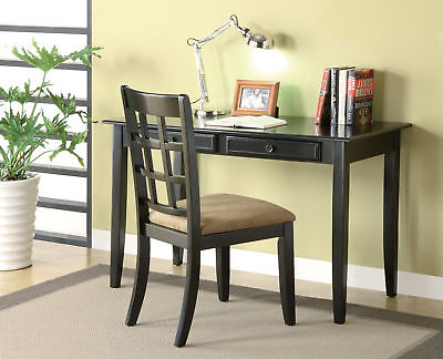 Coaster Desk Set In Black Finish 800779