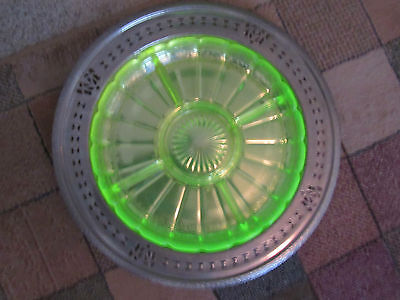 Nickle Serving Tray With Vaseline Insert