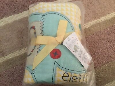 Next Little Zoo Soft touch Baby Quilt 100X120cm BNWT