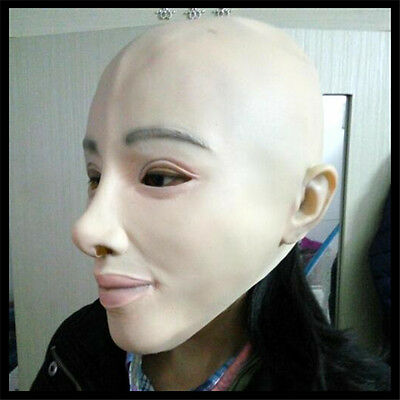 Latex 100% Dressing Party Mask Rubber Latex Halloween Female Realistic Female
