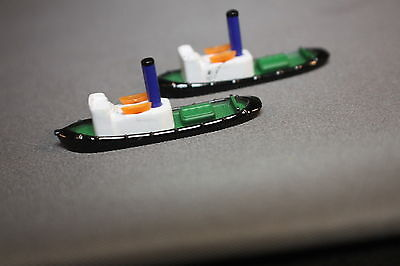 Triang Minic Ships Harbour item Steam Tugs blue funnels