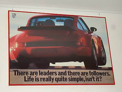 Poster Porsche 911 964 Turbo 965: Leaders and Followers