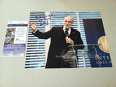 SIGNED w/JSA COA & 100% PROOF  8x10 - Vint Cerf - INTERNET FOUNDING FATHER !