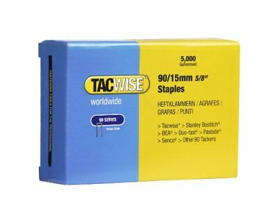 Tacwise Type 90 15mm Narrow Crown Staples for Staple Gun  Box 5000
