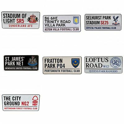 Football Club Street Wall Sign Team Fan Football Official Sports Crest Logo