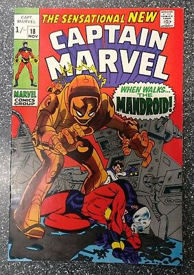 Captain Marvel #18 (Vol.1) VF+ Carol Danver's gets powers