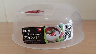 Food & Microwave Plate Cover with Steam Release Valve Plastic Clear 25cm Value!