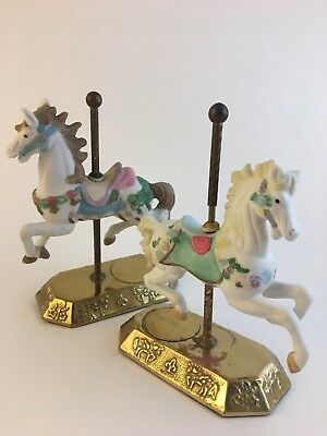 LOT of two rare Westminster Carousel Collection Horses