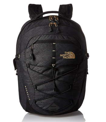 Women's THE NORTH FACE BOREALIS Backpack TNF Black 24K Gold Bag - FREE SHIPPING!