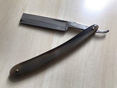 Joseph Rodgers & Sons - Straight Edge Razor - Sheffield Steel, Horn Scales