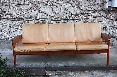 60er 70er lounge leder sofa danish modern couch settee for 70 er jahre couch