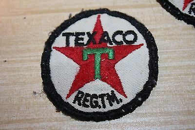 Original Vintage TEXACO Gas & Oil Advertising Embroidered Patch Lot of 3