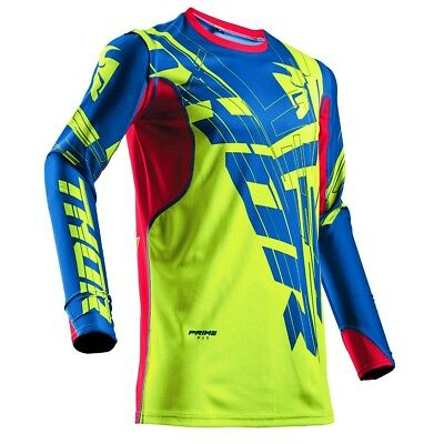 Thor Jersey Prime Fit Paradigm Lime/Blau/Rot