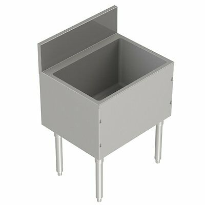 "Stainless Steel Underbar Ice Bin 24"" x 19"""