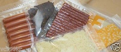 """Zipper Vacuum Chamber Pouches 8"""" x 12"""" 3 mil bag, Meat, Cheese, Jerky, Nuts 1000"""