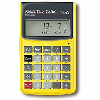 8503 ProjectCalc Classic Home Improvement Calculator For Do It Yourselfers New