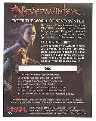 Neverwinter MMORPG Redeemable Loot Code, D&D Tomb of Annihilation