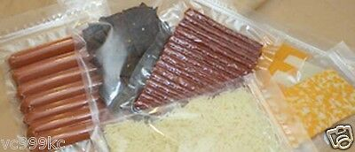 """Zipper Vacuum Pouches 6"""" x 12"""" 3 mil bag, Meats, Cheese, Jerky, Nuts 1000"""