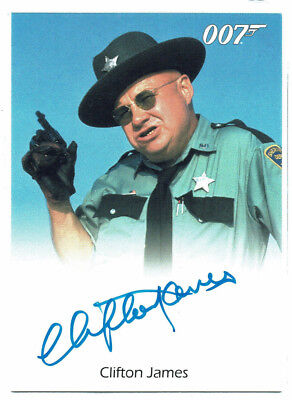 James Bond	50th Anniversary Series 1	Autograph Clifton James Sheriff J W Pepper