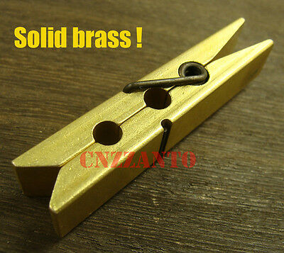 Retro Solid brass paperclip Clothespin Z242