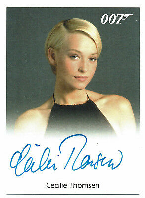 James Bond	Archives	Autograph Card		Cecilie Thomsen as Professor Inga Bergstrom
