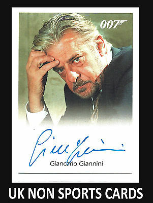James Bond	in Motion	Autograph Card		Giancarlo Giannini as Renee Mathis