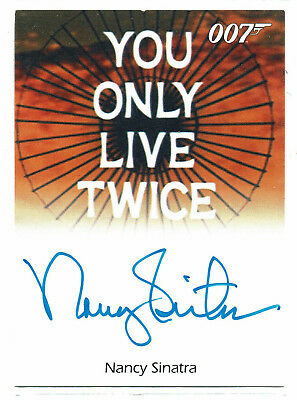 James Bond	50th Anniversary Series 1	Autograph Nancy Sinatra Singer Theme Song