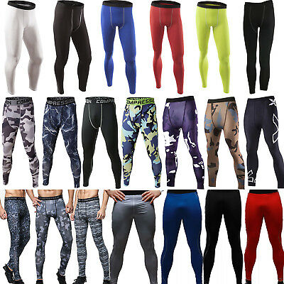 Men Apparel Compression Tight Base Layer Pants Long Leggings Gym Sports Trousers