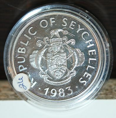 Republic Seychelles 25 Rupees 1983 Copper/nickel/ Fao World Fisheries Conference