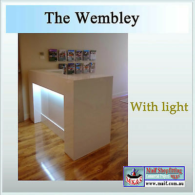 Reception Desk, Reception counter,   white gloss with light, The Wembley MK&S