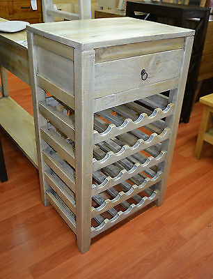 Rustic  Mango Fruit Wood Timber  Wine Rack wine storage  25 bottles
