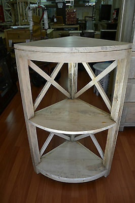Rustic Mango Fruit Wood French Provincial corner shelf  bookcase bookshelf
