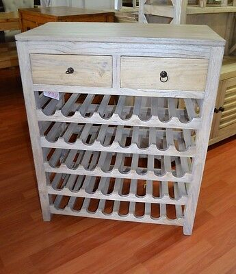 Rustic Mango  Wood Timber Wine Rack wine storage 40 bottles elm oak