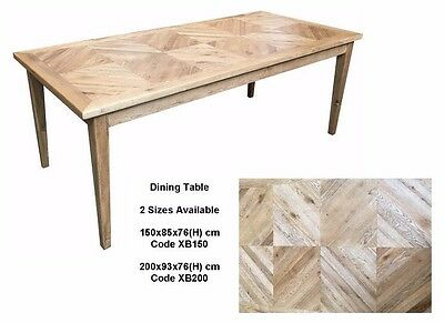 Parquetry Solid Oak French Provincial Dining Table 150 x 85