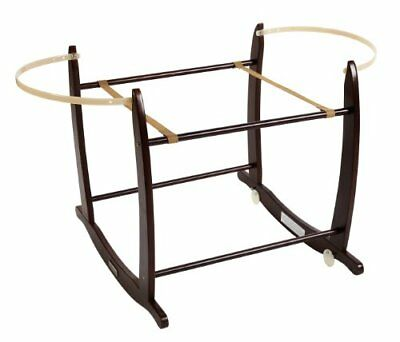 Clair de Lune Deluxe Rocking Moses Basket Stand  Cocoa