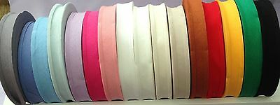 """BIAS BINDING 100% COTTON 25 mm (1"""" Wide) Sold By Metre Range of Colours"""