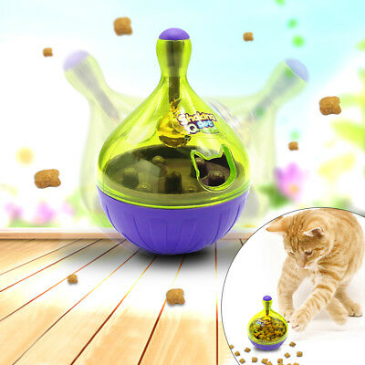 Pet Dog Cat Kitten Interactive Roly-Poly Toy Puppy Tumbler Ball Food Dispenser