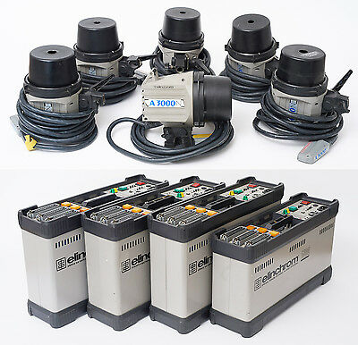 Elinchrom Flash Lighting. Studio Flash. 4 x Classic Packs and 6 x A3000S Heads.
