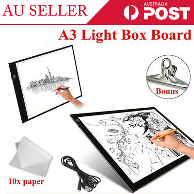 A3 LED Ultra Slim Box Light Design Stencil Drawing Pattern Tracing Pad Lightbox