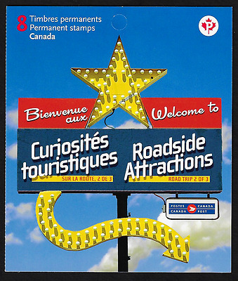 Canada Stamps — Booklet Pane of 8 — Roadside Attractions -2 X #2401a (BK432) MNH