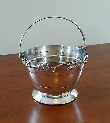 20th Century EPNS Silver Copper Mounted Silcraft Melbourne Ice Bucket w Handle