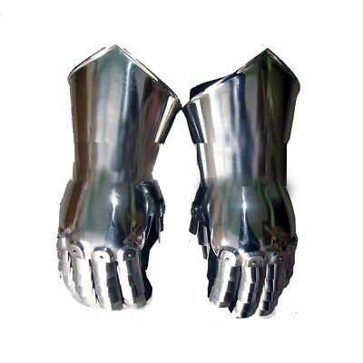 Medieval Gauntlets Armor Metal Plate Pair Set of 2 Gloves Knight Reenactment A16
