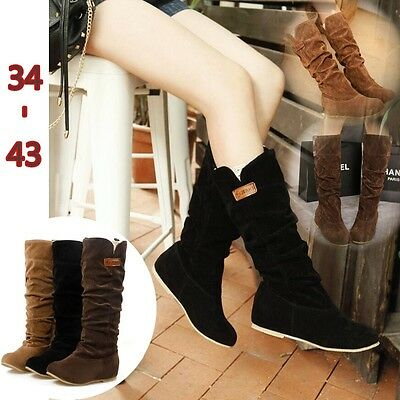 Women's Slouchy Wide Boots Cotton Scrubs Ladies Boots Shoes Winter Tall Boots