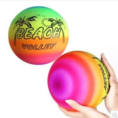 Beach Ball Rainbow Volley Swimming Pool Inflated Outdoor Children Fun Activity