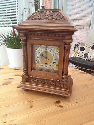 Liberty Co.London-1895 Antique Clock-Walnut-Westminster Chime-FWO.