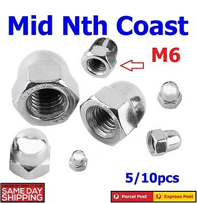 M6 Hexagon Domed Cap Nuts Acorn Nut DIN1587 304 Stainless Steel 5/10pcs