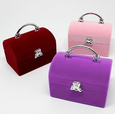 Cute Earring Ring Bracelet Pendant Display Box Case Holder Jewelry Gifts