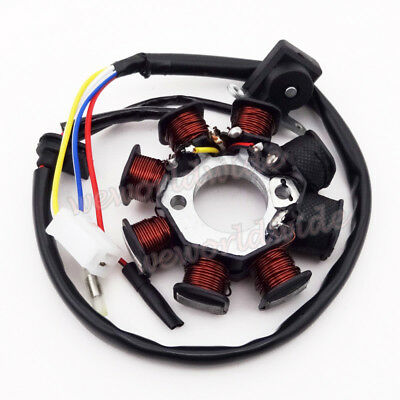 8 Pôles Magnéto Stator Pour GY6 49c 50cc Chinese Moped Scooter Sunl Roketa Vespa