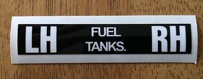 Military Land Rover Series & Lightweight Fuel Tap Change Lever Decal